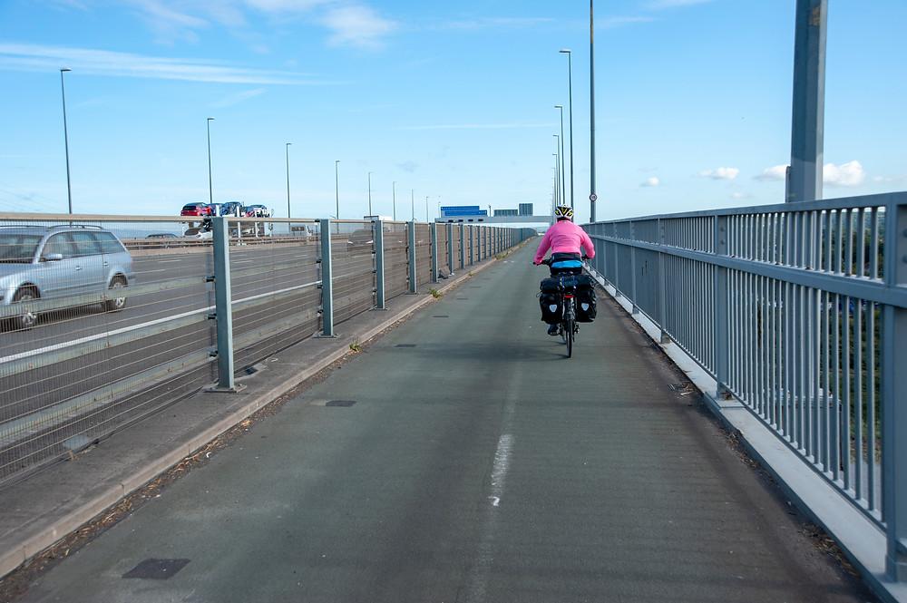 The Avonmouth Bridge.
