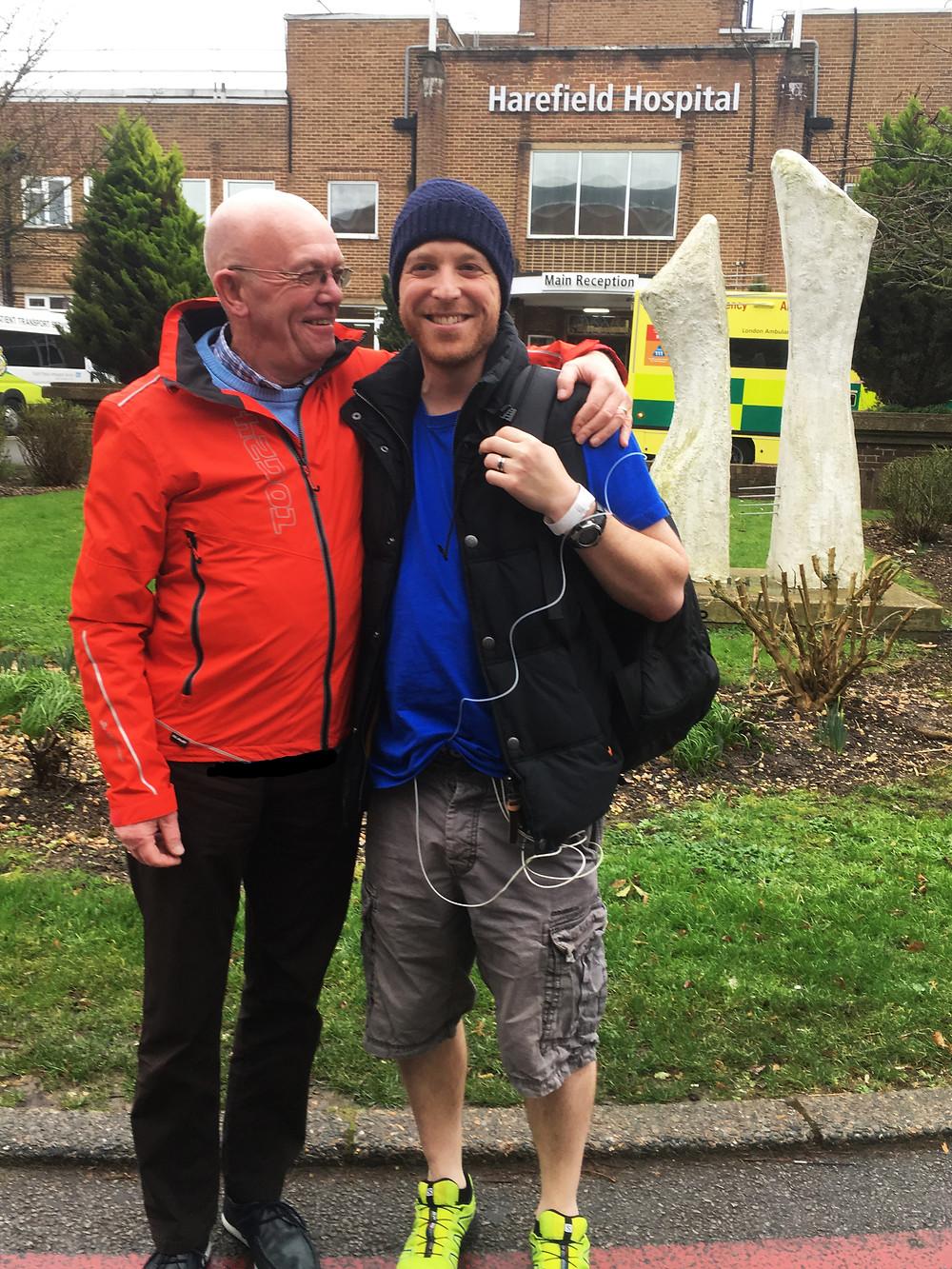 Nick & Bob at Harefield Hospital
