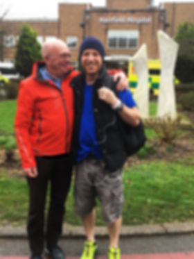Bob and Nick at Harefield Hospital