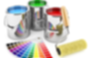 Farben mit Farbkarte. Musterbild Maler Amriswil