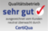 Qualitätsbetrieb von CertiQua.ch. Mit sehr gut ausgezeichnet