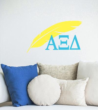 Alpha Xi Delta Quill sorority decorations decals
