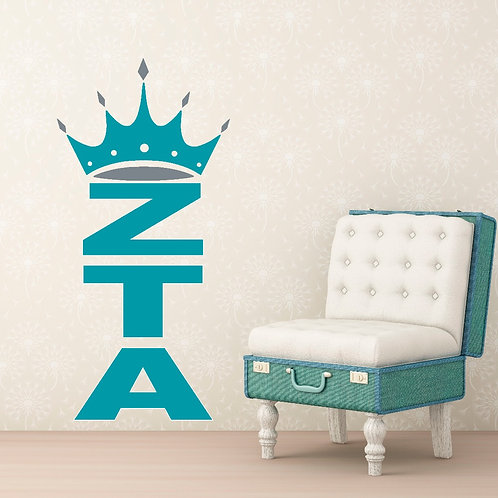 Zeta Tau Alpha Crown Letters sorority decorations