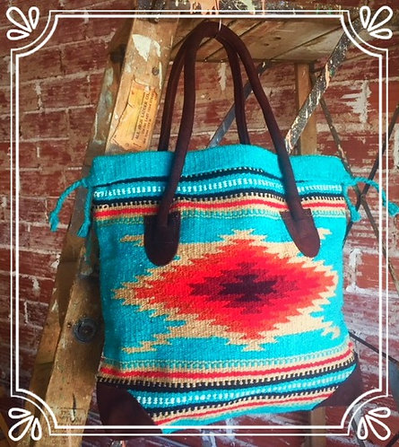 Gadabout Tote Turq/Red