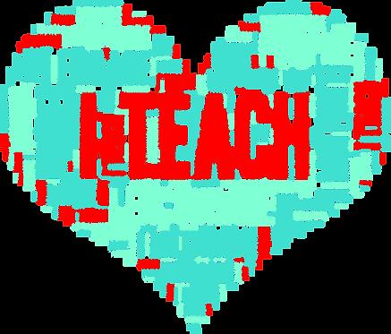 """I Teach"" Decals 3.5x3.5 Set of 2"