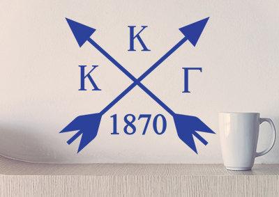 Kappa Kappa Gamma sorority decal