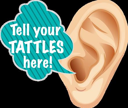 """Tell Your Tattles Ear: Wall Stix 25x20"""""""