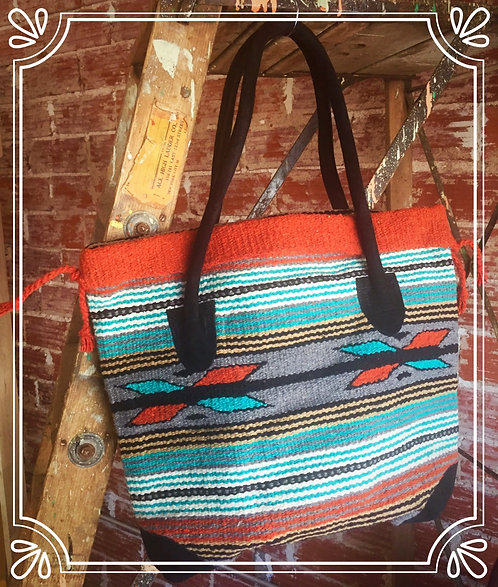 Gadabout Tote Orange/Turq