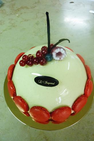 Bombe Vanille/fruits rouges