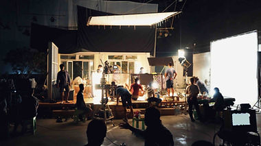 Working Film Set with Actors and an Accent Coach