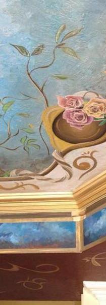 Cherub Mural in Ceiling