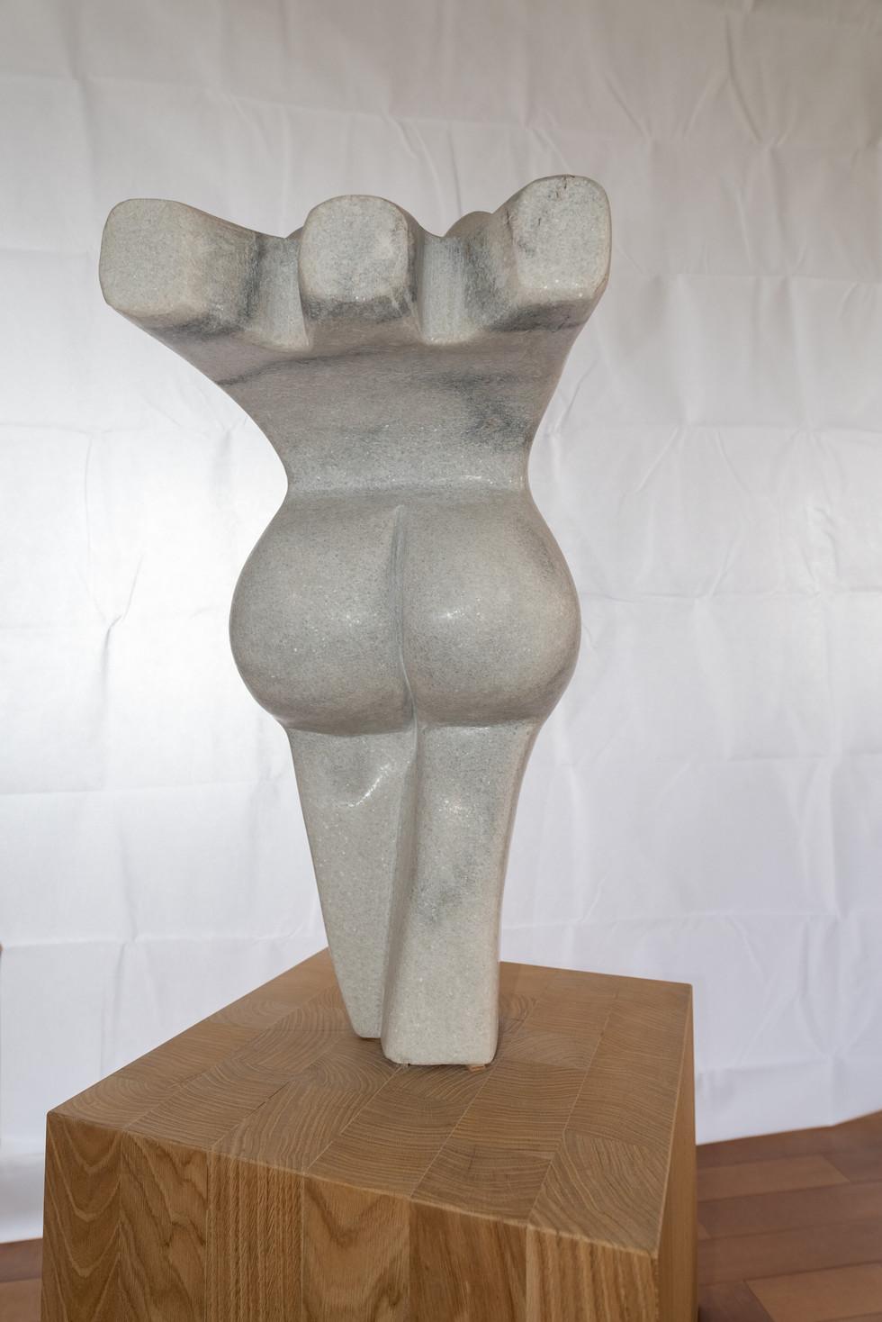 Skulptur Nacktreserve - Rückansicht