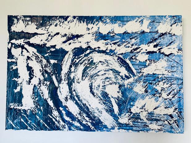 The Wave abstrakte Malerei