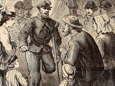 """The Veteran"" - A moving poem from 1867 about the struggle of disabled Civil War veterans"