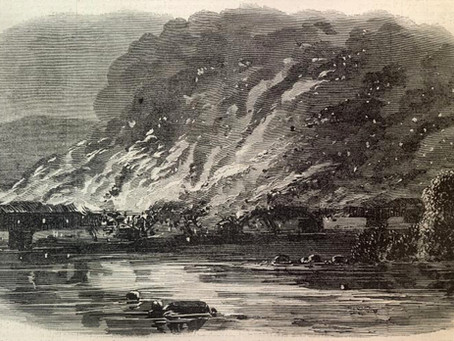 """A Splendid Sight"" - An account of the burning of the Wrightsville Bridge in June 1863"