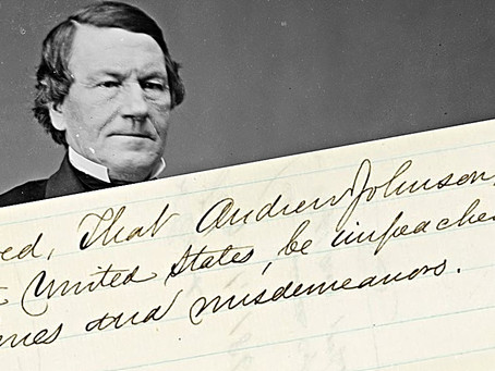 A Pennsylvania Congressman launched the impeachment of President Andrew Johnson in 1868