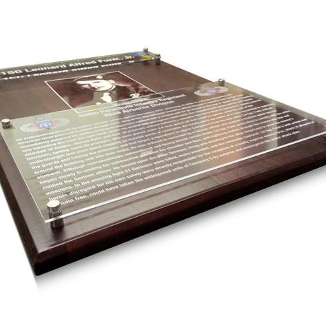 Custom-Walnut-Plaque-with-mahogany-stain