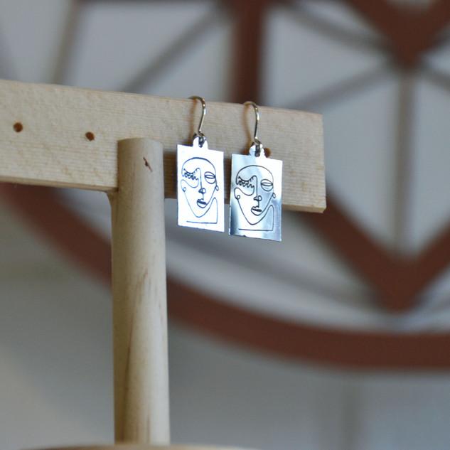 Contempo Silver Annacoil Earrings