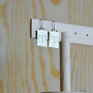 Contempo Brushed Gold Earrings