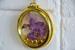 Orchid Flower Key Ring