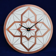 Rose Gold and White Layered Clock