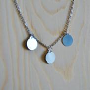 Simple 3 disc Necklace