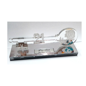 clear engraved key