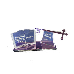 bible and cross key