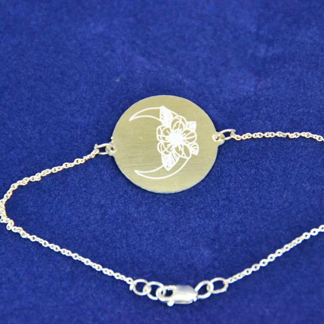 Large Gold Disc Bracelet