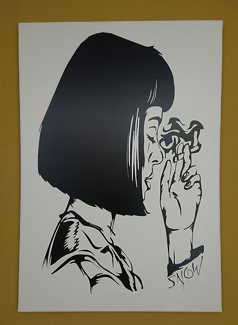 Mia Wallace schwarzundweiss