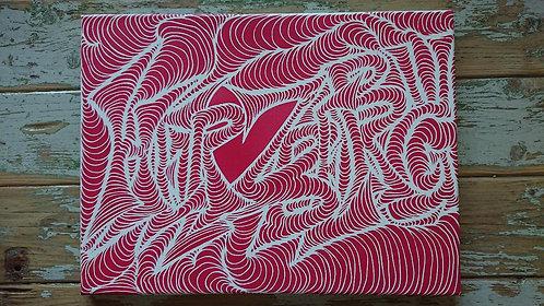 Stencil Art auf Leinwand