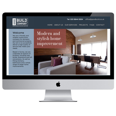 As part of creating the brand for this friendly and quickly expanding builders firm, this site was designed to reinforce their professional and reliable reputatution.