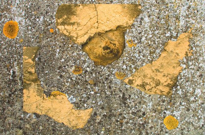 Espace, collage à partir de photographies impressions jet d'encre, contrecollage sur aluminium, 50x75cm, 2014.