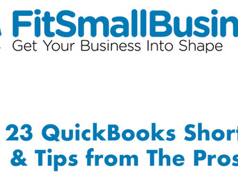 Republished from FitSmallBusiness.Com: 23 QuickBooks Shortcuts