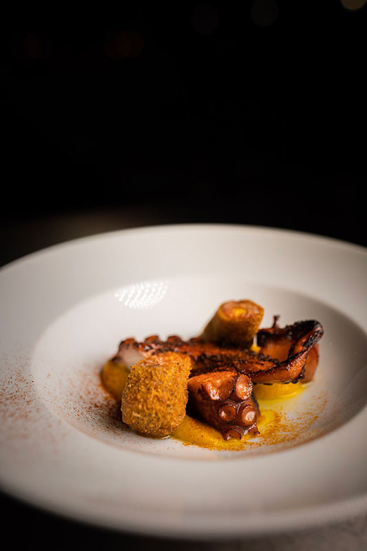 Galician Octopus and Pork Fritter