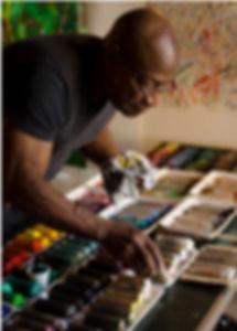 Franklin White in his studio