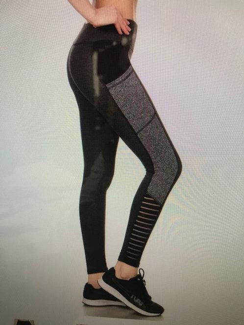 Black with Gray Pattern Leggings