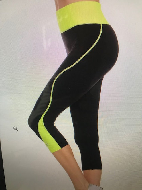 Black with Lime Leggings