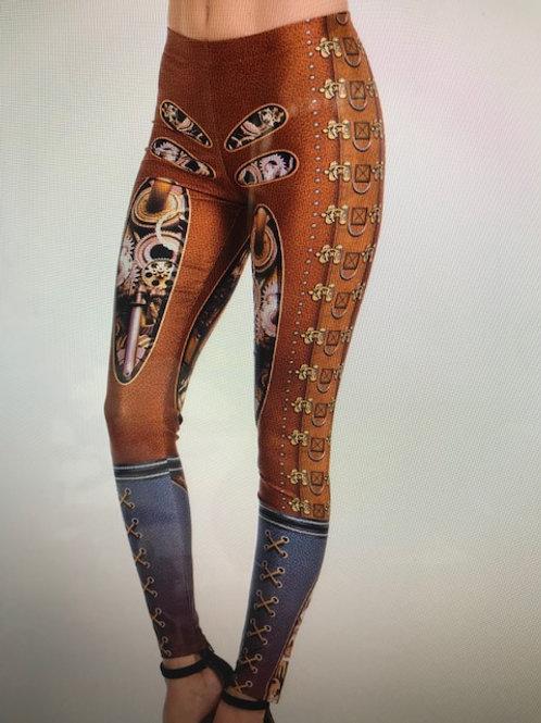 Brown Pattern Design Leggings