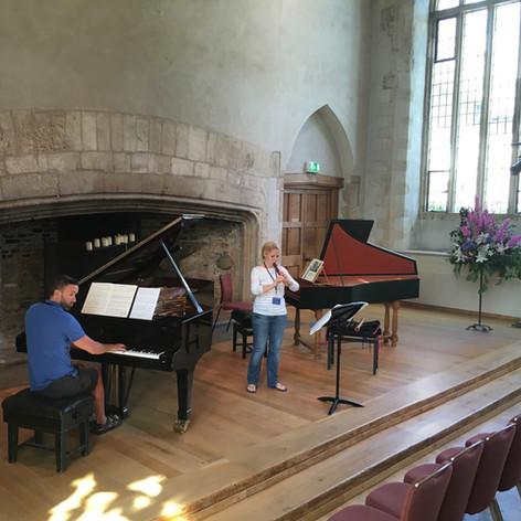 Rehearsal at Dartington (pianist Gavin Roberts).JPG