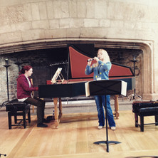 Rehearsal at Dartington (harpsichordist Claire Williams).JPG