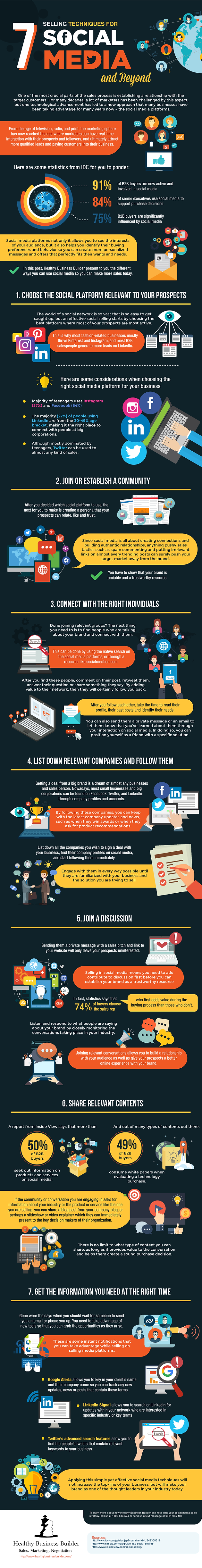 7 Selling Techniques for Facebook