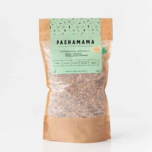 Superfood Granola de maca, quinoa y semillas de cáñamo