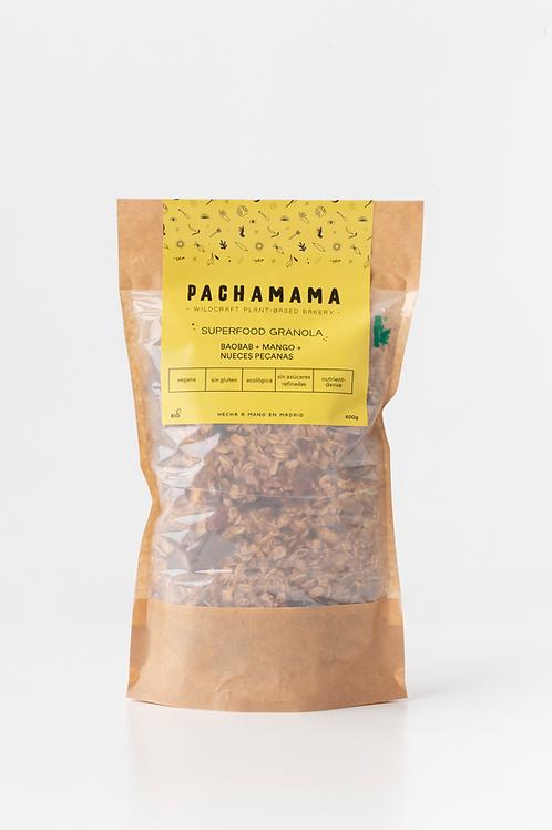 Superfood Granola de baobab, mango y nueces pecanas