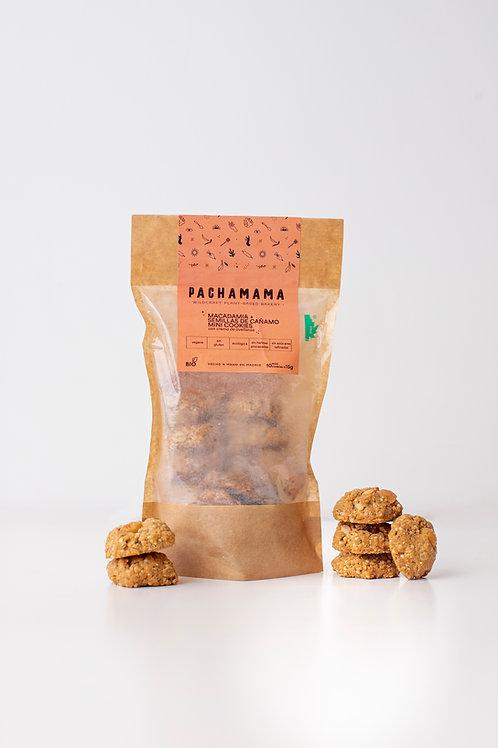 Mini galletas veganas de macadamia y semillas de cáñamo