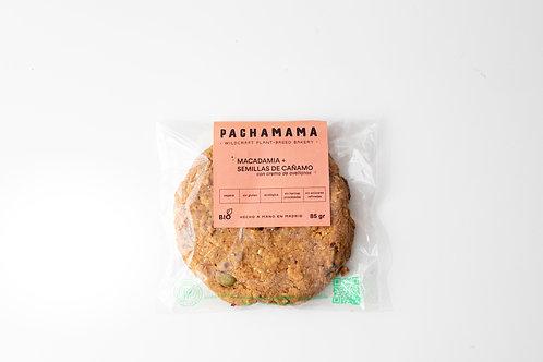 Galleta vegana de macadamia y semillas de cáñamo