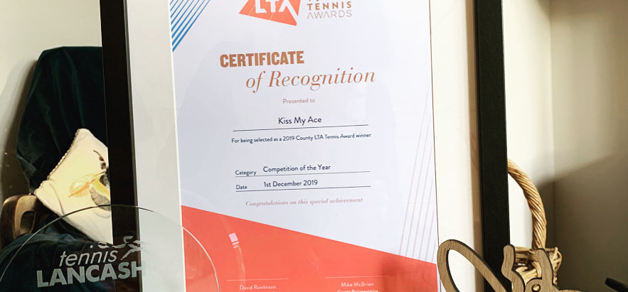 Kiss My Ace wins Lancashire LTA Best Tournament!