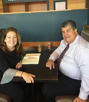 Melanie meets with City Councilor Rick Caraviello