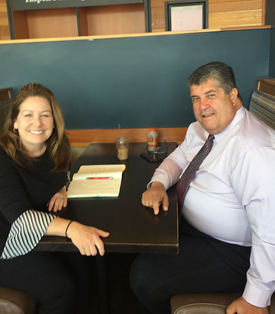 Melanie meets with City Councilor Rick Caraviello