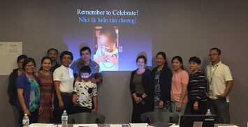 Multi-lingual presentation to Vietnamese families